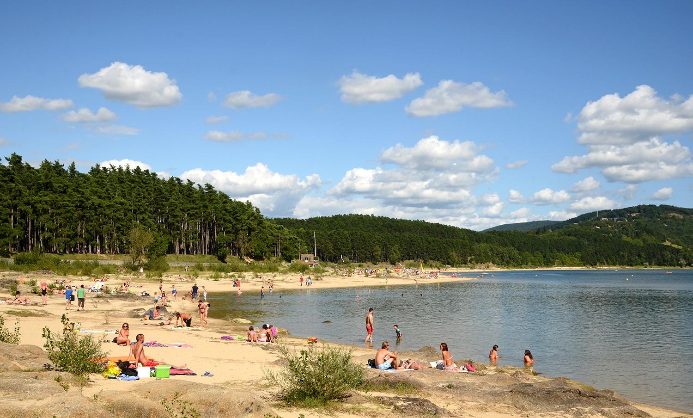 Baignade au lac de Saint-Ferréol