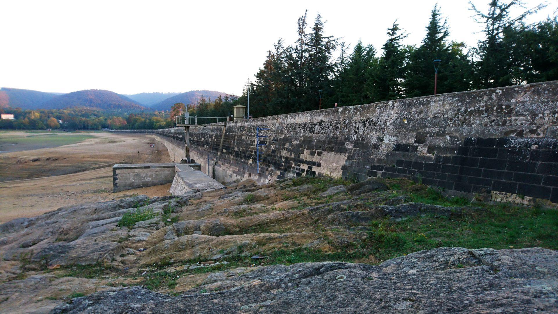 Vidange du lac de Saint-Ferréol en 2016