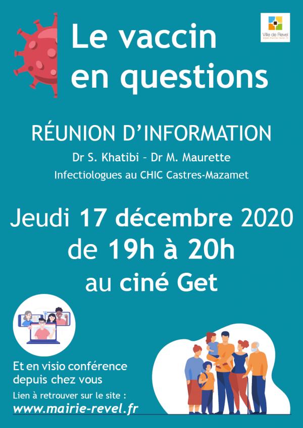 Le vaccin en questions – Réunion d'information